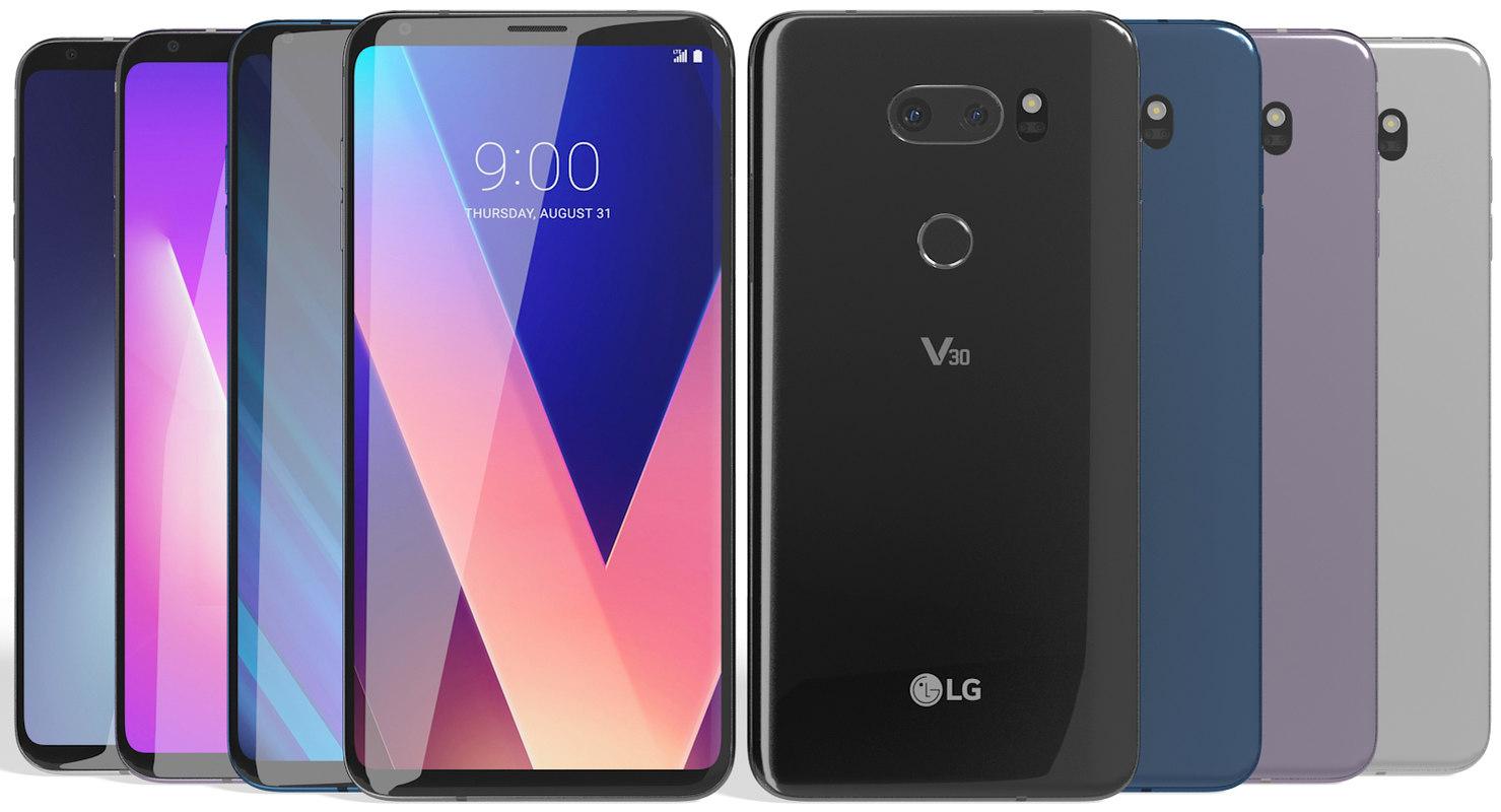 realistic lg v30 colors model