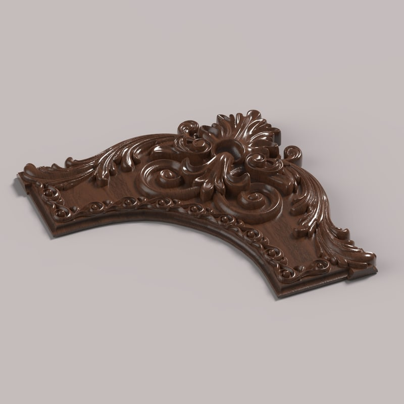 corner decor carving model