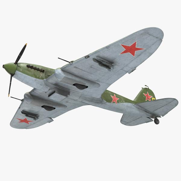 ilyushin il-2 wwii soviet 3D