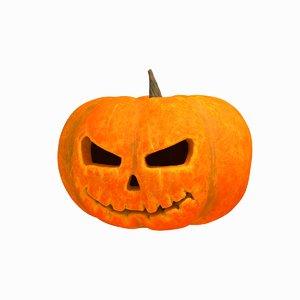 3D halloween pumpkin o model