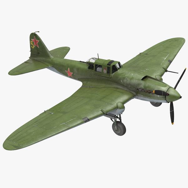 3D ilyushin il-2 wwii soviet