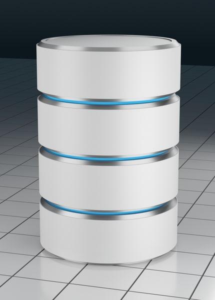 server database 3D model