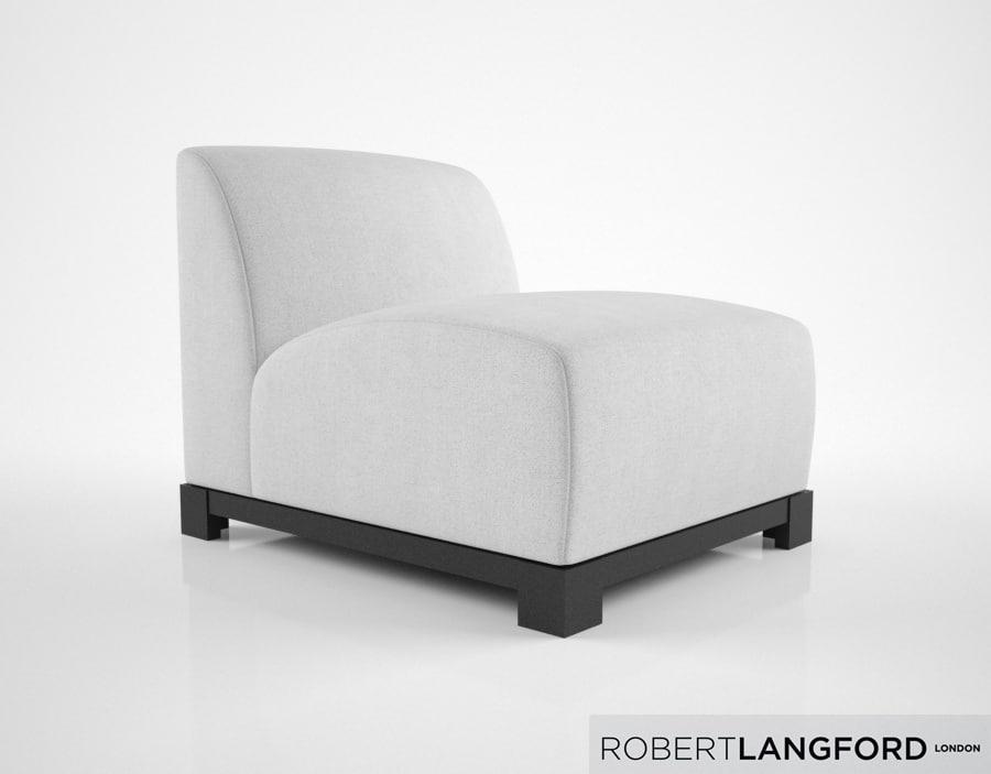 3D robert langford windsor armchair