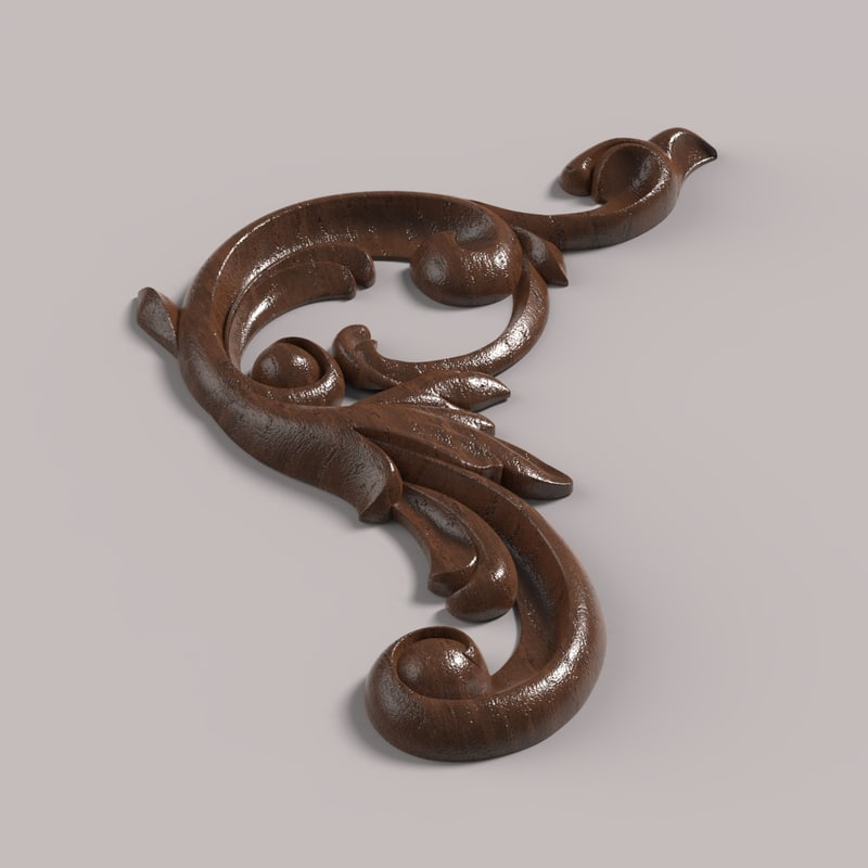 3D corner decor carving