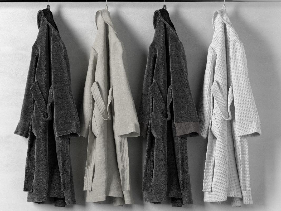 hanging bathrobe 3D model