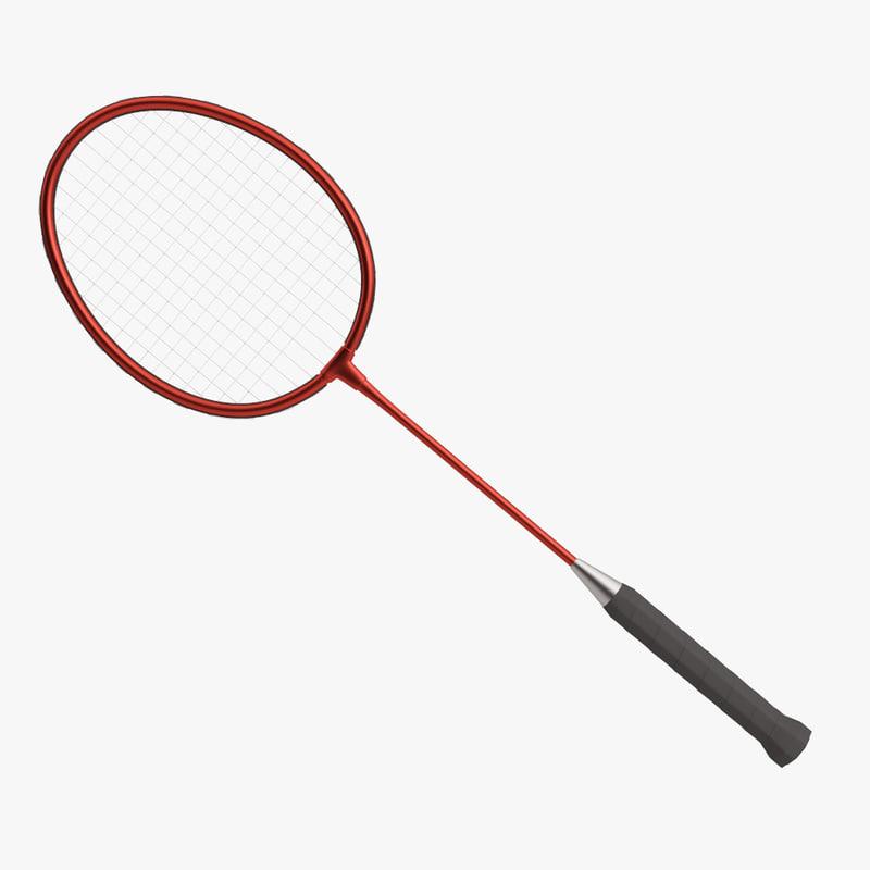 3D badminton racket model