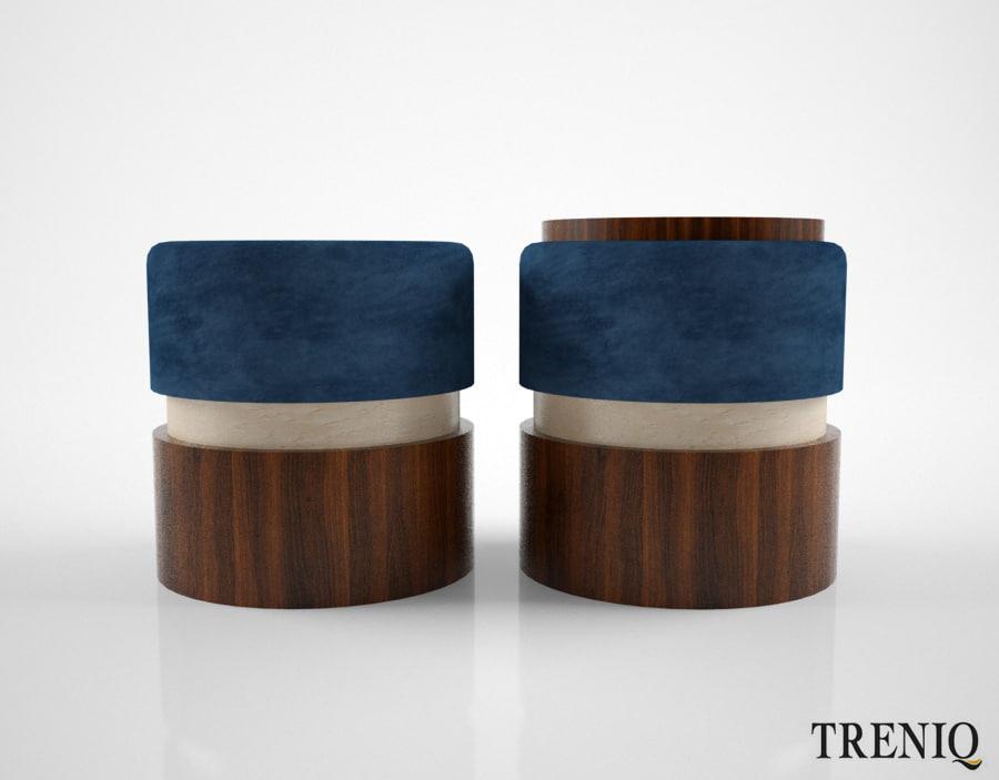 treniq lune stool 3D model