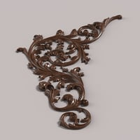 corner decor carving 3D