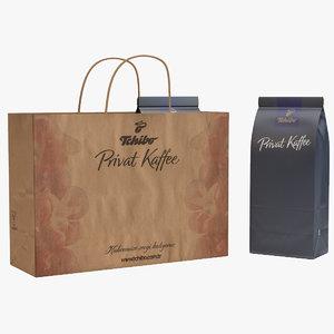 tchibo coffee packaging set 3D