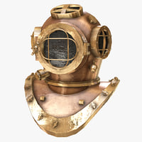 3D diving helmet model