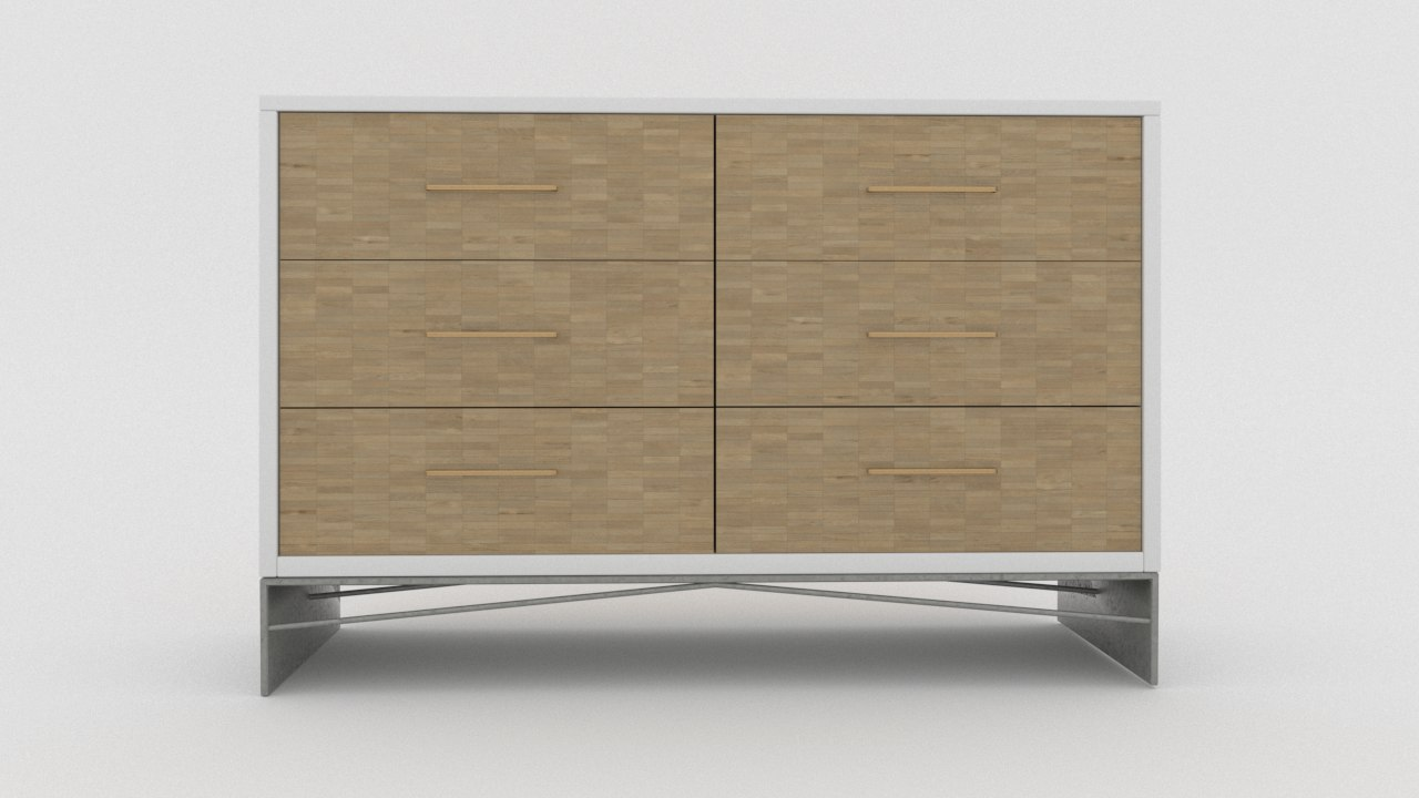3D modern sideboard
