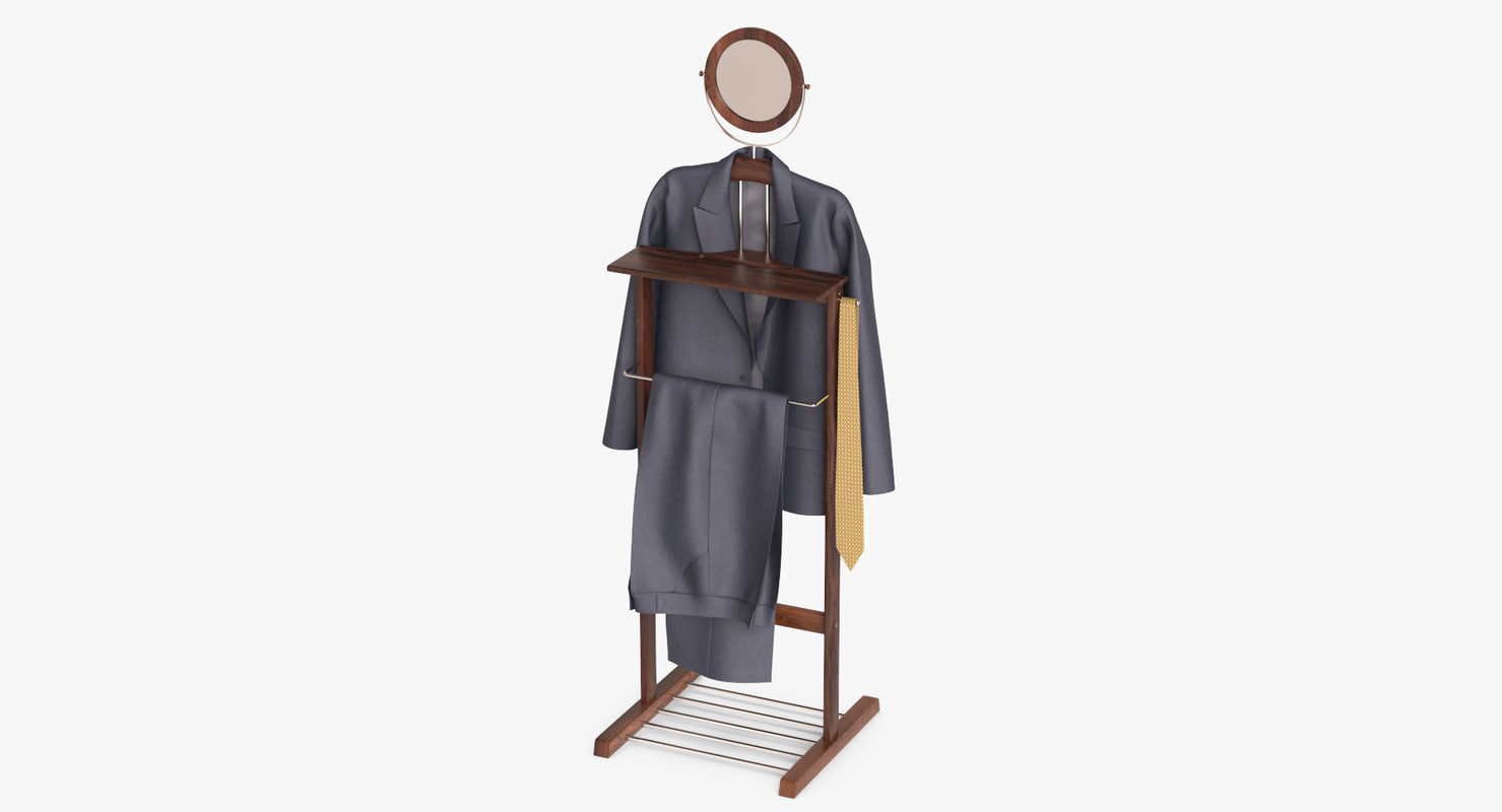 suit gray hanger 3D model