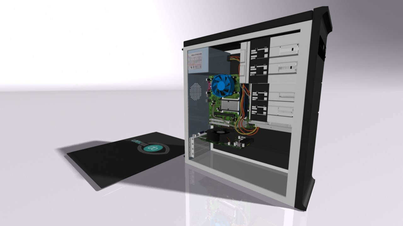 desktop pc inner model