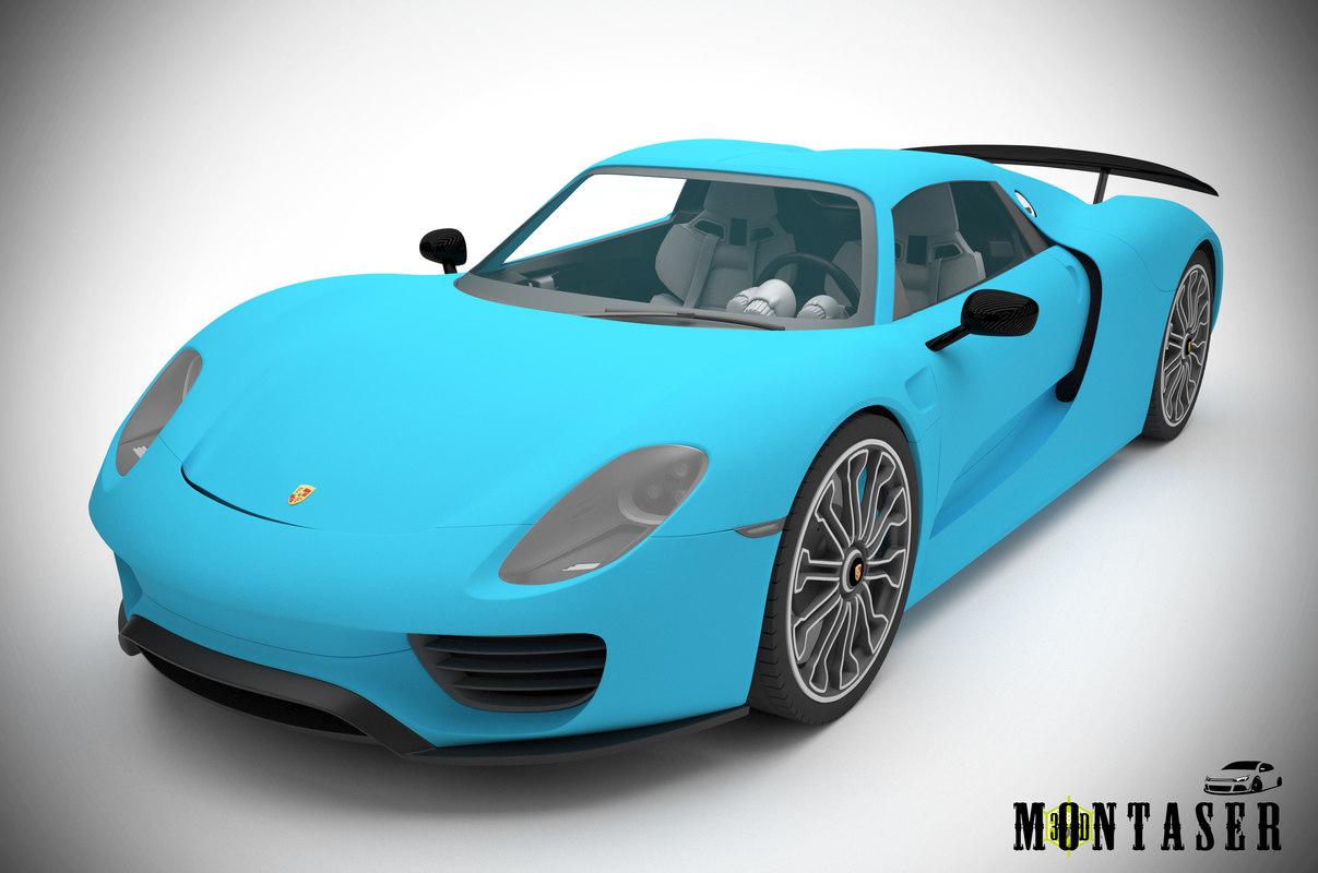 3D model porsche 918 spyder