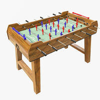 foosball table 3D