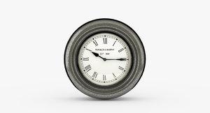 3D vintage alarm clock franklin model