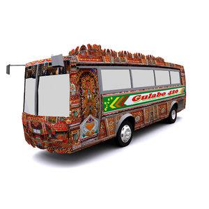 3D pakistani bus