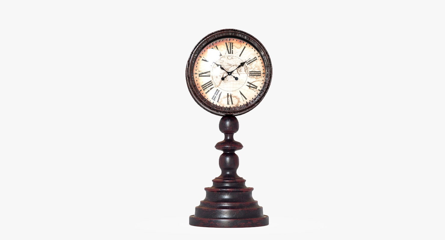 vintage clock gerald et 3D model