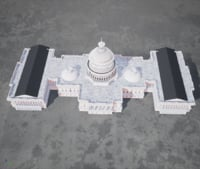 United States Capitol low poly