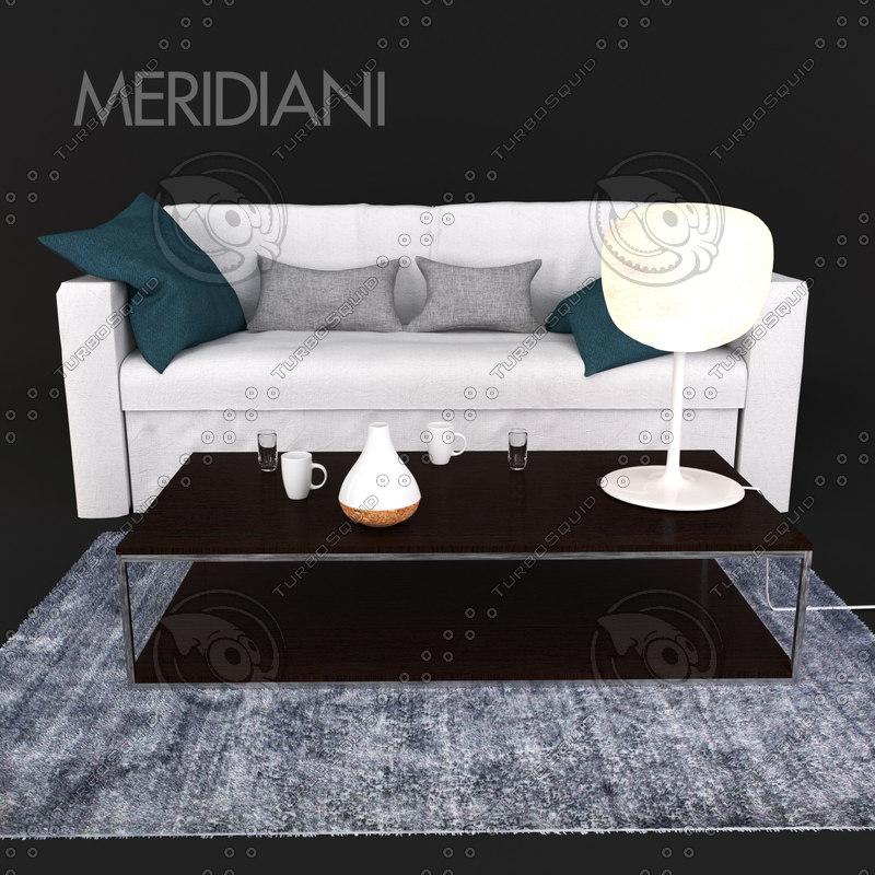 3D sofa meridiani law