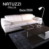sofa natuzzi duca 2959 3D model