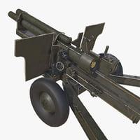 3D howitzer gun