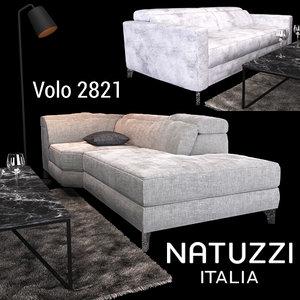 sofa natuzzi volo 2821 3D model