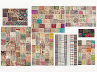 3D model old vintage kilim patchwork