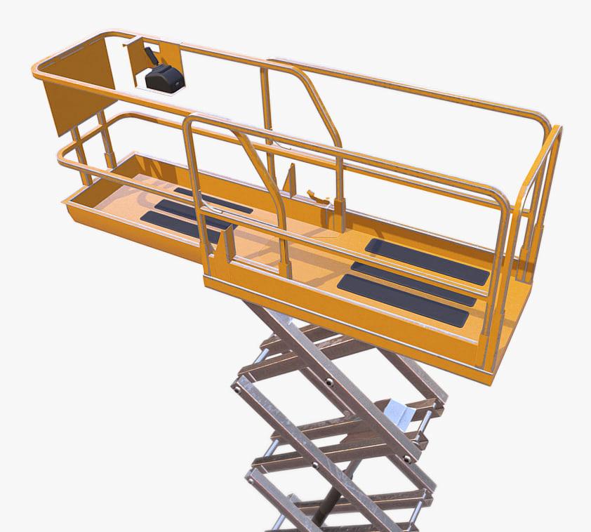 3D construction scissor lift