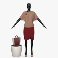 3D clothing seth red model