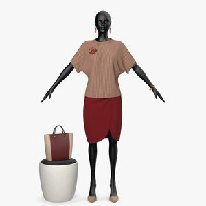 3D clothing seth red model