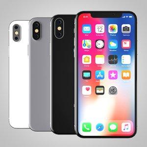 3D model iphone x