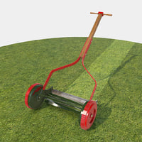 3D push mower model