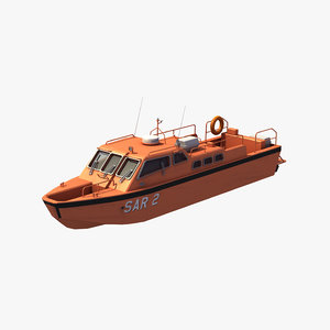 3D model inshore rescue boat