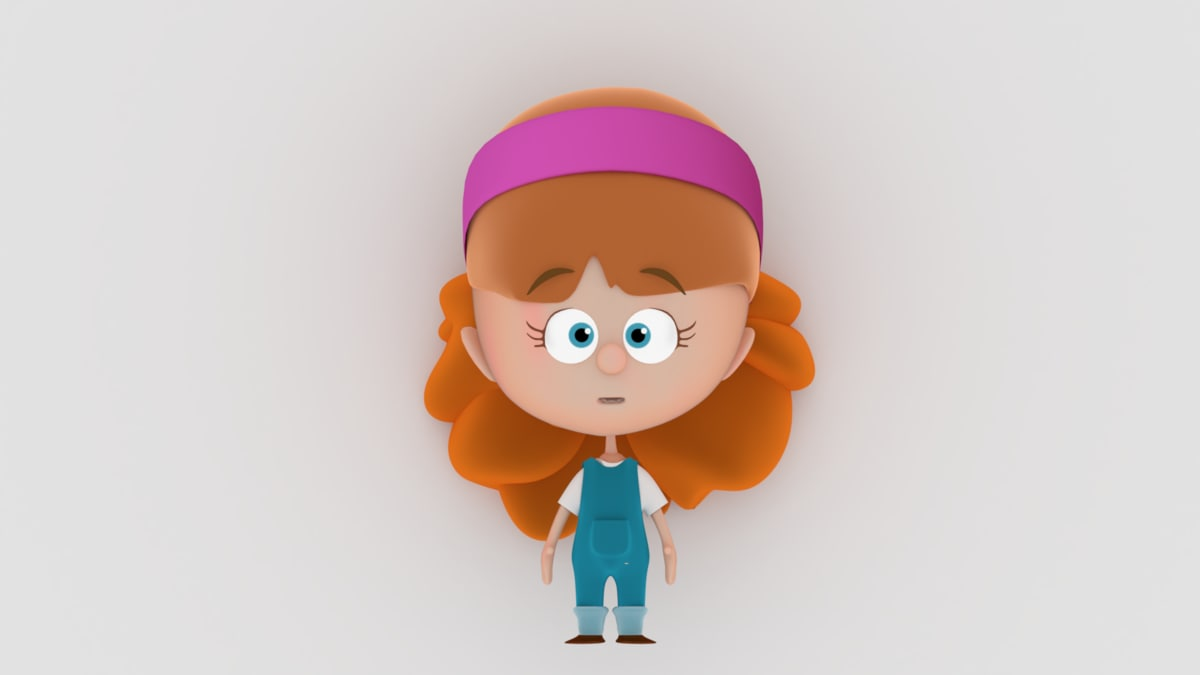 3D model iman stylized character rigged