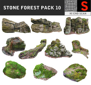 magic forest pack 10 3D model