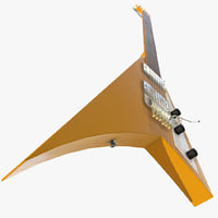 3D flying v electric guitar