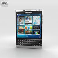 blackberry passport silver 3D