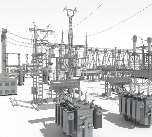 electrical substation sub 3D