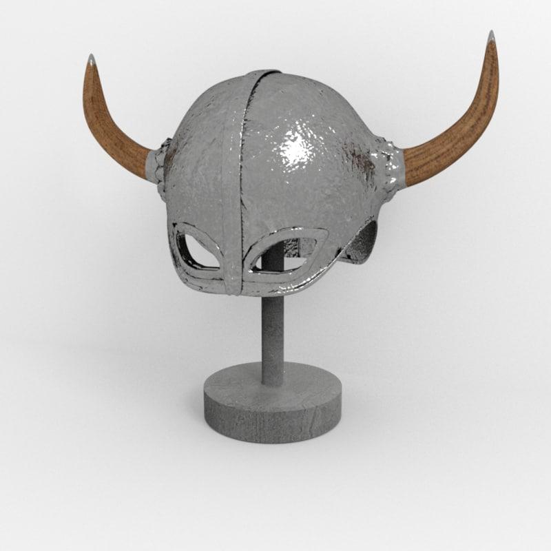 3D medieval helmet 2 model