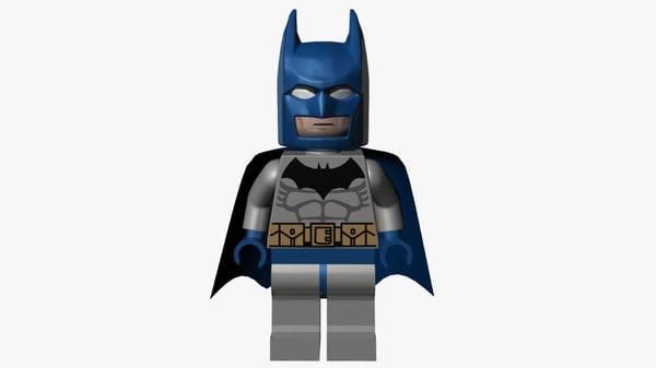 lego batman blue grey 3D model