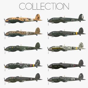 3D heinkel 111 bomber -