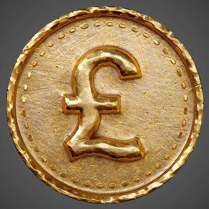 3D model ready coin pbr -
