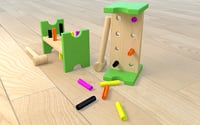 3D wood wooden toy