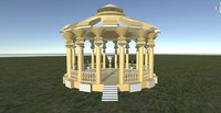 Architectural Rotunda in Gold ( for 3D games )