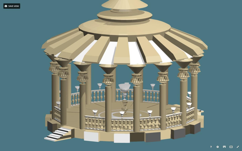 3D parks palaces model