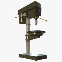 workshop drill press 3D model