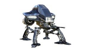 gunbot scifi robot 3D model