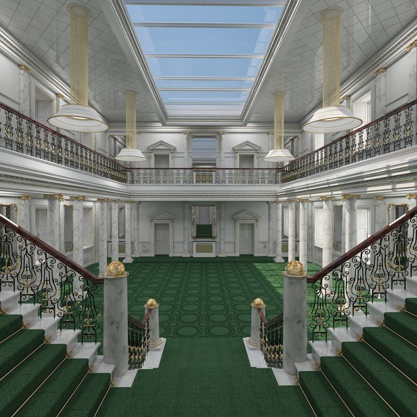 3D model classical grand staircase