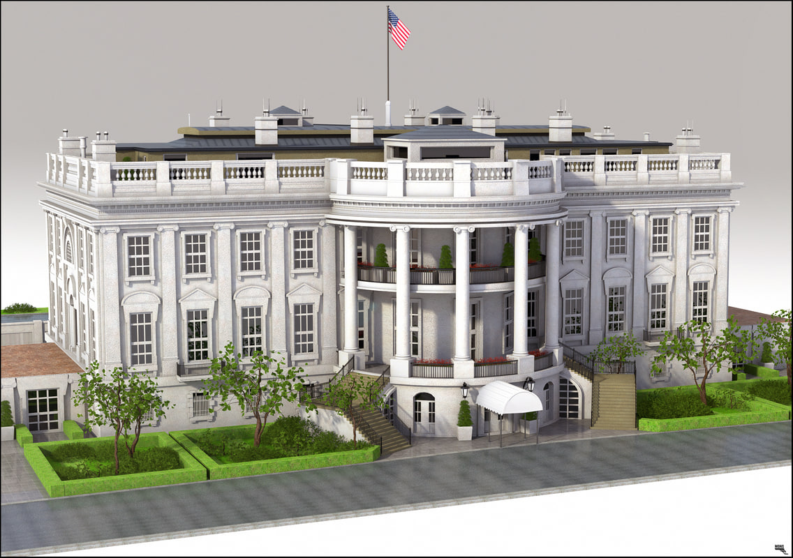 Exceptional ... 3D White House U Model ...